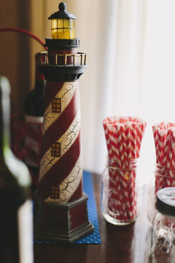 lighthouse nautical themed fourth of july party