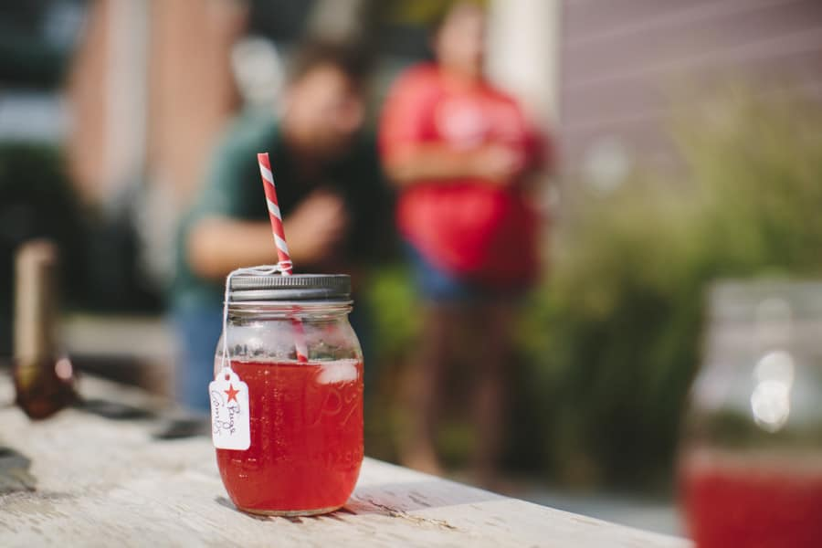 mason jar cocktails fourth of july party