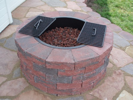 fire pit sun valley landscaping