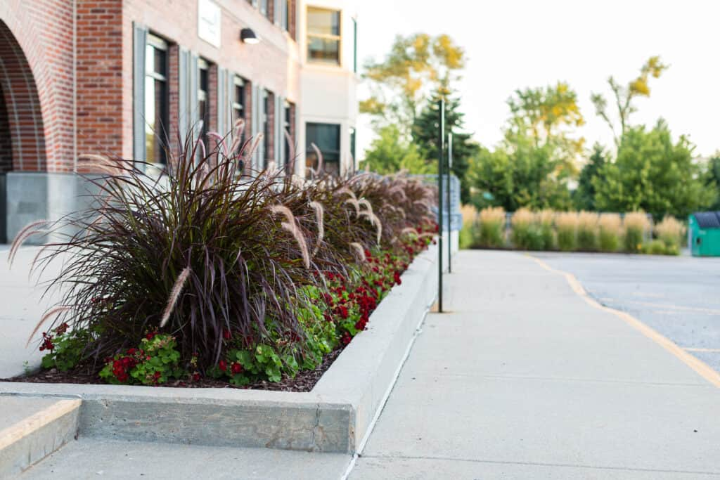 Commercial Landscaping with container garden