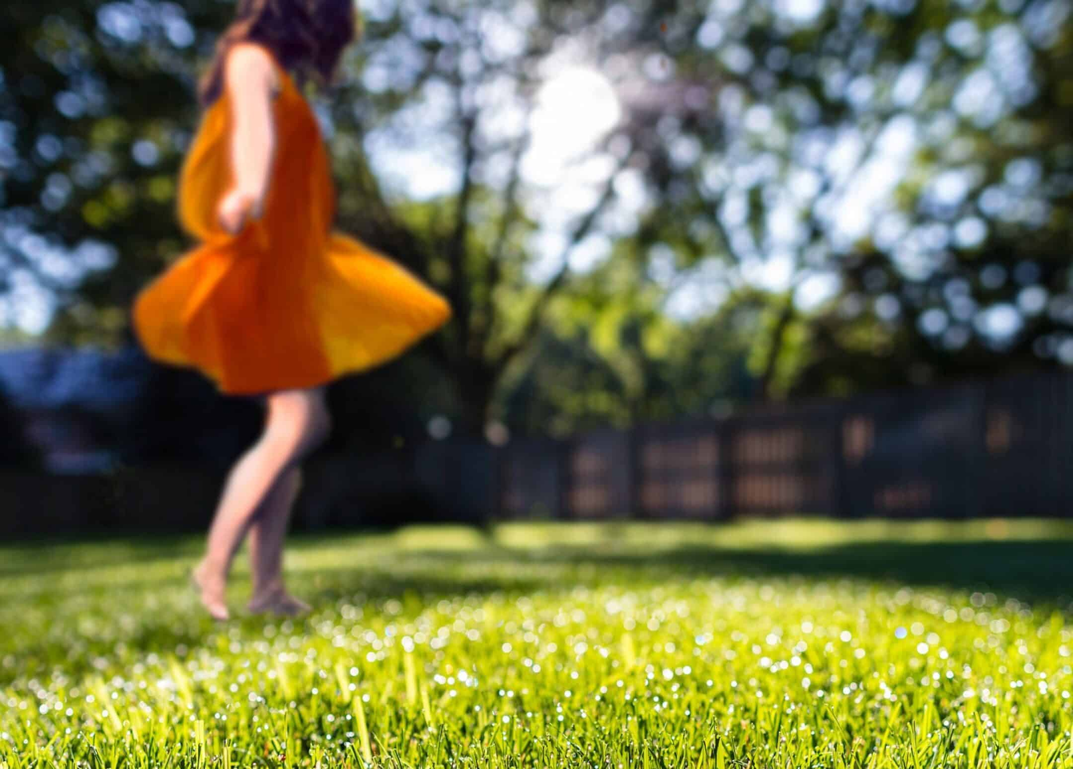 Dance barefoot in the grass